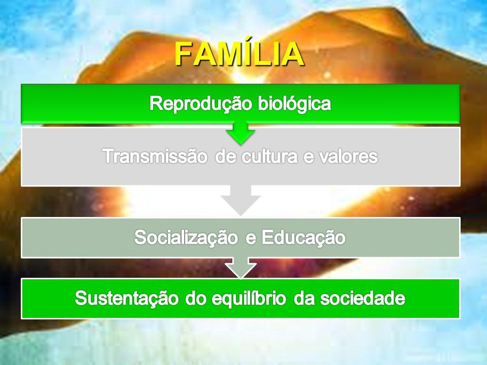 14 Família moderna: Valorização da mulher no mercado de trabalho, filhos na responsabilidade de avós ou amas modernas.