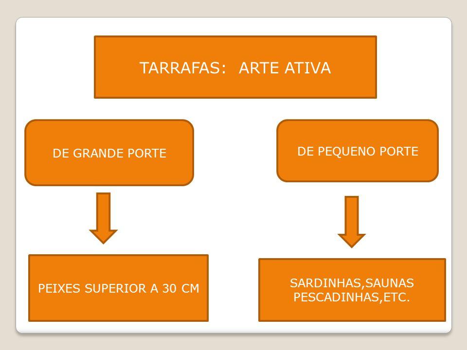 TARRAFAS: ARTE ATIVA DE GRANDE PORTE DE PEQUENO PORTE PEIXES SUPERIOR A 30 CM SARDINHAS,SAUNAS PESCADINHAS,ETC.