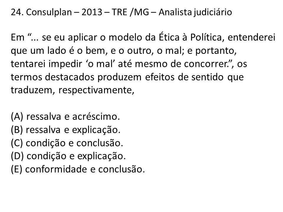 24.Consulplan – 2013 – TRE /MG – Analista judiciário Em ...