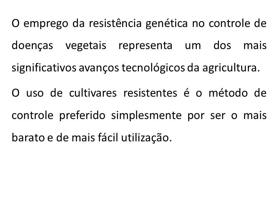 O emprego da resistência genética no controle de doenças vegetais representa um dos mais significativos avanços tecnológicos da agricultura. O uso de