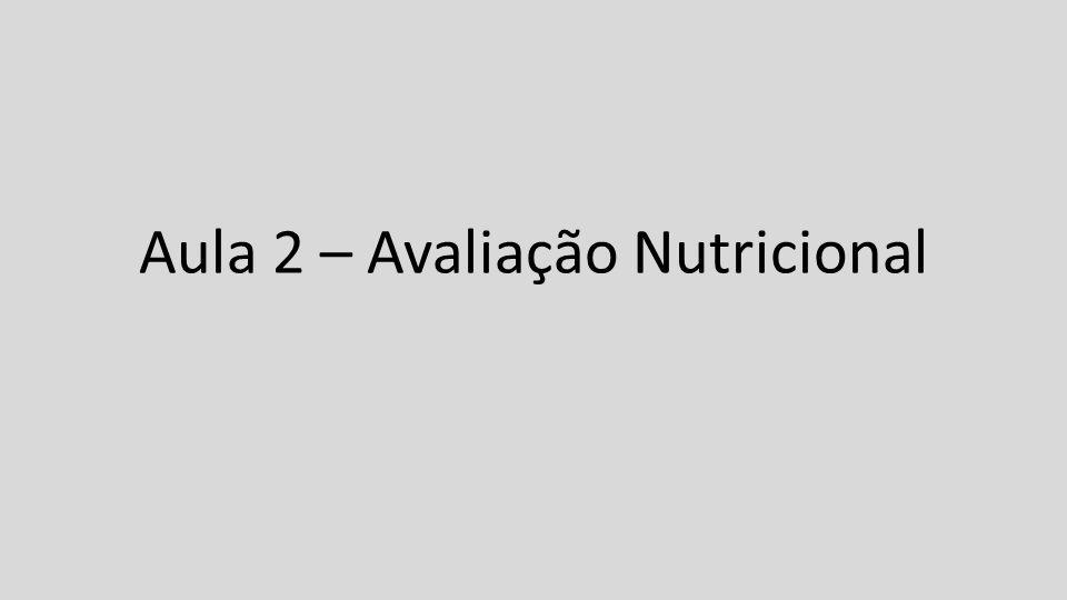 Aula 2 – Avaliação Nutricional