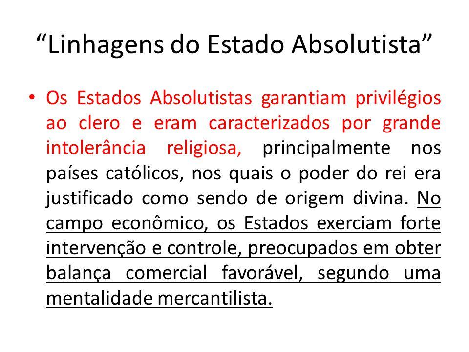 Mercantilismo Política econômica das Monarquias Nacionais, visando o enriquecimento do Estado através das atividades comerciais, e por conseguinte, o fortalecimento do poder real.