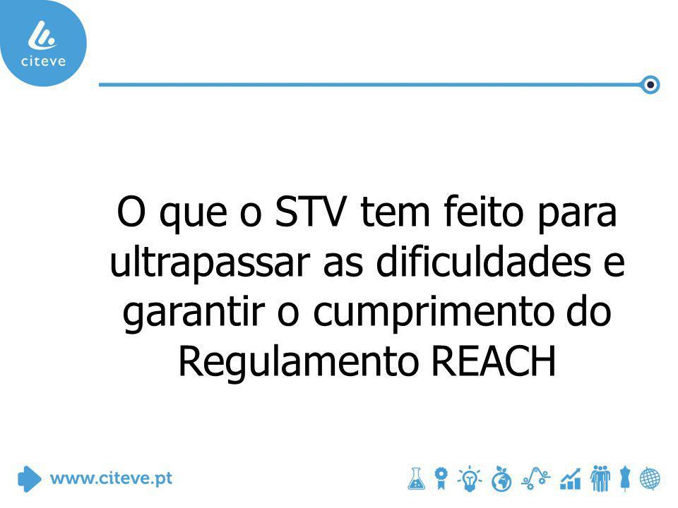 O que o STV tem feito para ultrapassar as dificuldades e garantir o cumprimento do Regulamento REACH