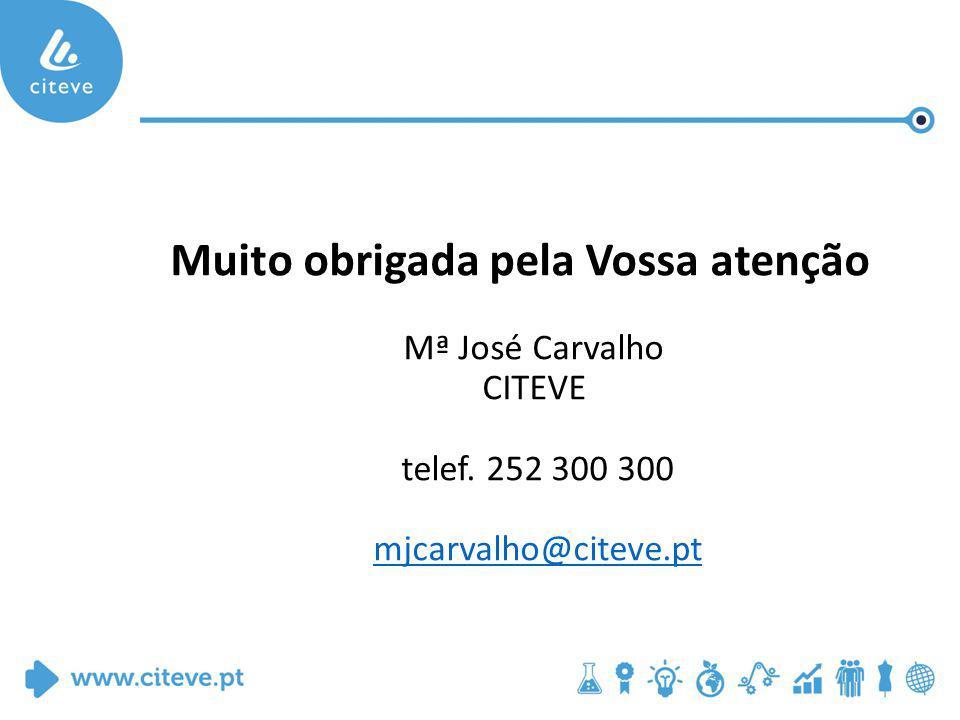 Muito obrigada pela Vossa atenção Mª José Carvalho CITEVE telef.