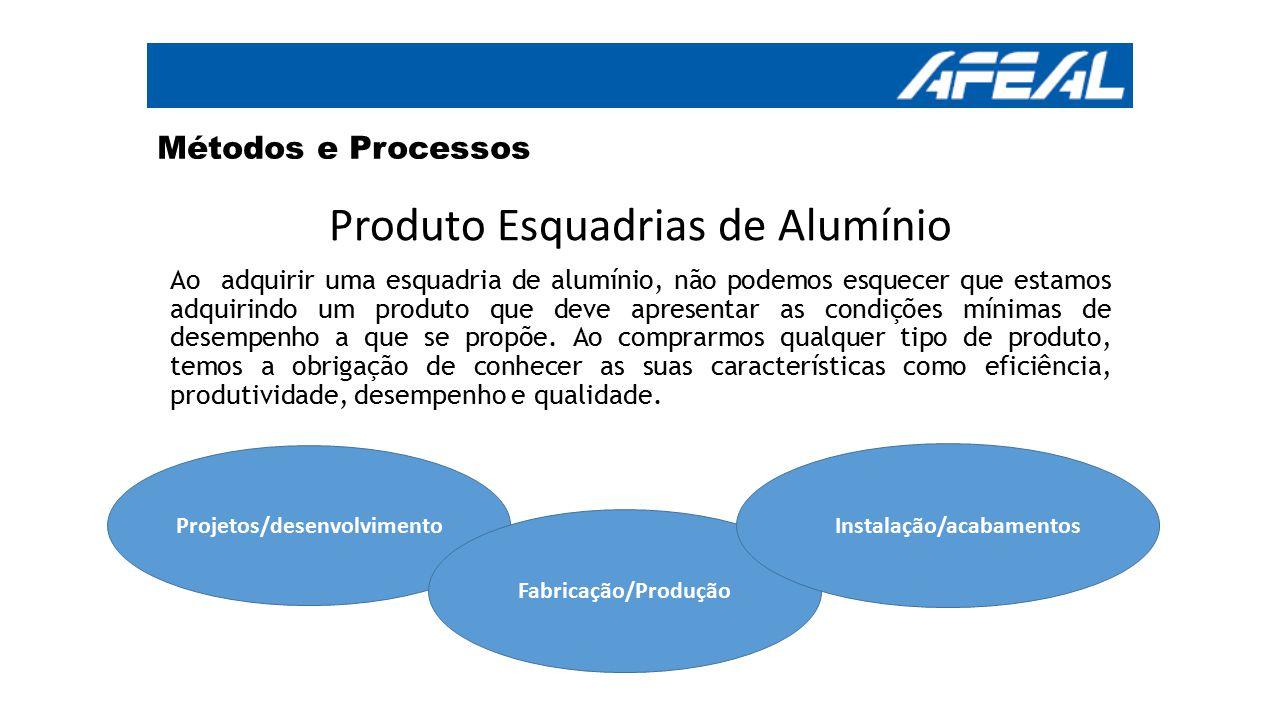 Métodos e Processos Produto Esquadrias de Alumínio Ao adquirir uma esquadria de alumínio, não podemos esquecer que estamos adquirindo um produto que d