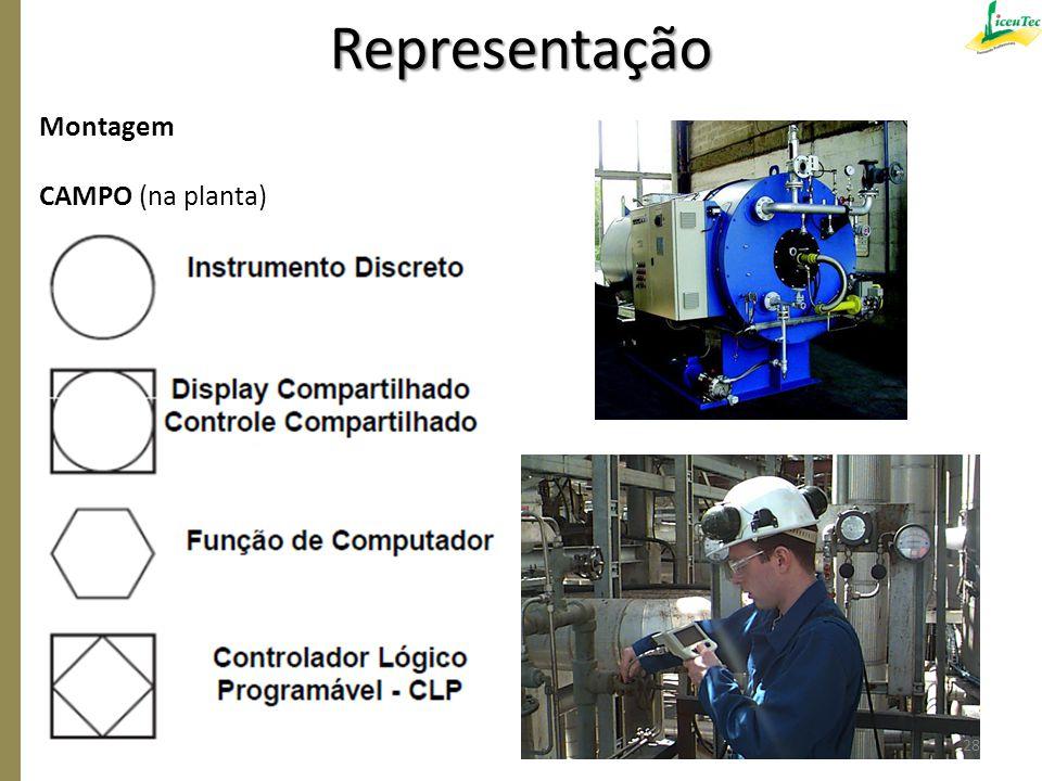 Montagem CAMPO (na planta) Representação 28
