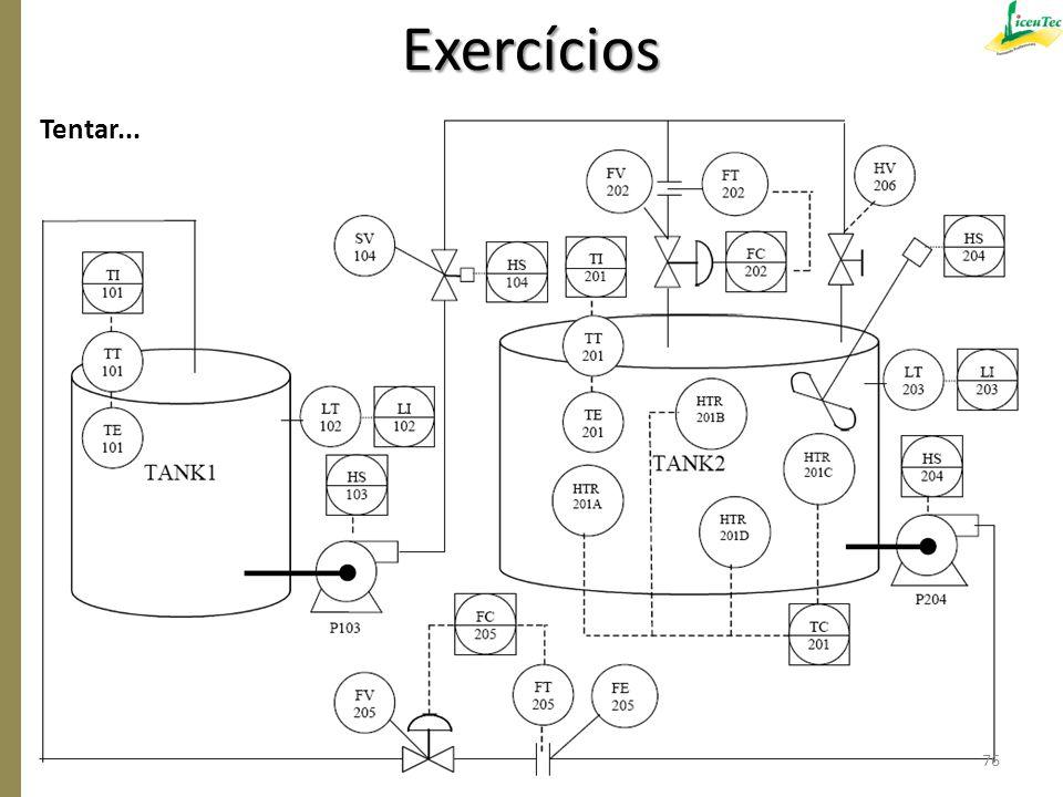 Exercícios Tentar... 76