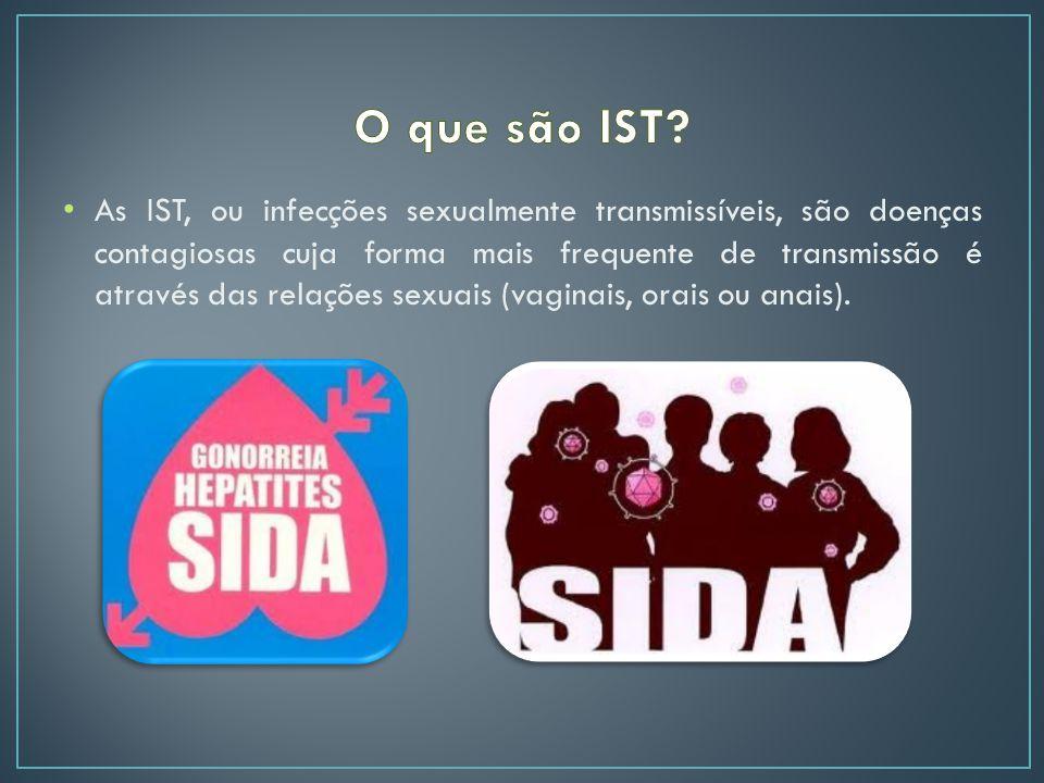 As IST, ou infecções sexualmente transmissíveis, são doenças contagiosas cuja forma mais frequente de transmissão é através das relações sexuais (vaginais, orais ou anais).