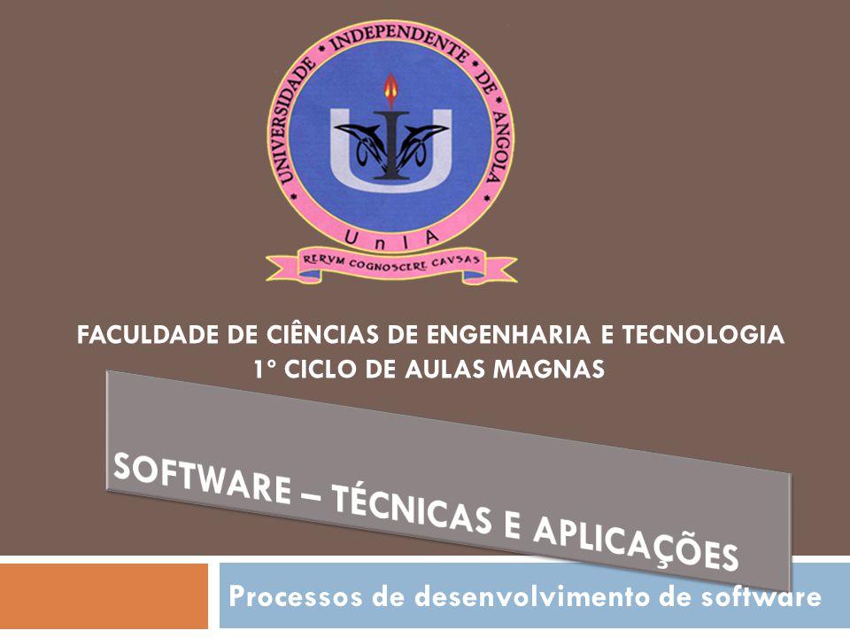 Processos de desenvolvimento de software FACULDADE DE CIÊNCIAS DE ENGENHARIA E TECNOLOGIA 1º CICLO DE AULAS MAGNAS