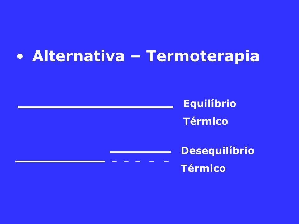 Alternativa – Termoterapia Desequilíbrio Térmico Equilíbrio Térmico