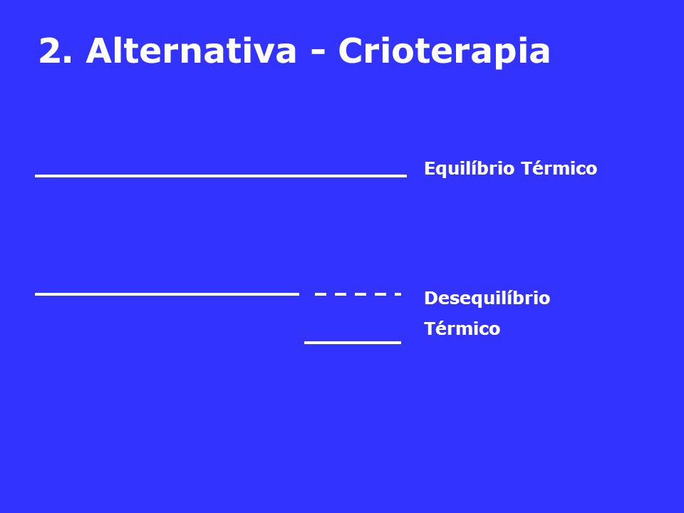 2. Alternativa - Crioterapia Equilíbrio Térmico Desequilíbrio Térmico
