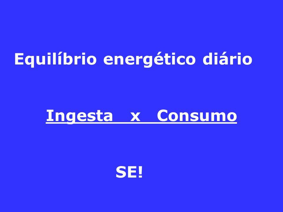 Equilíbrio energético diário Ingesta x Consumo SE!