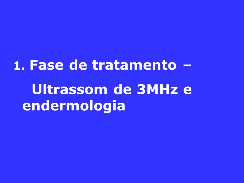1. Fase de tratamento – Ultrassom de 3MHz e endermologia