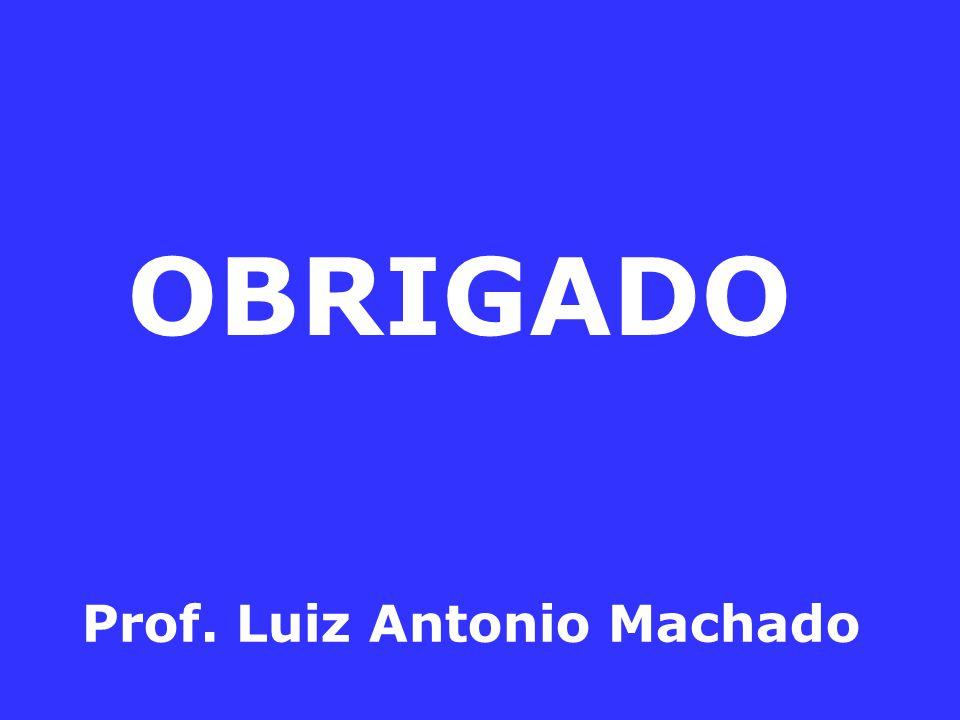 OBRIGADO Prof. Luiz Antonio Machado
