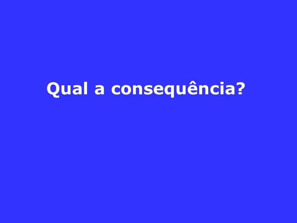 Qual a consequência?