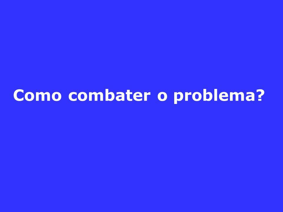 Como combater o problema?
