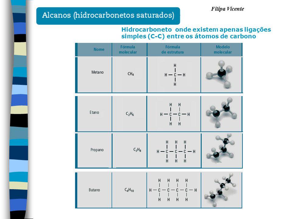 Hidrocarboneto onde existem apenas ligações simples (C-C) entre os átomos de carbono