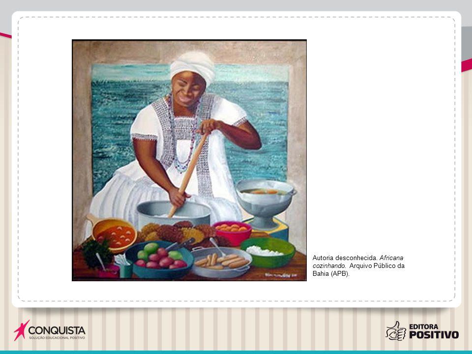 Autoria desconhecida. Africana cozinhando. Arquivo Público da Bahia (APB).