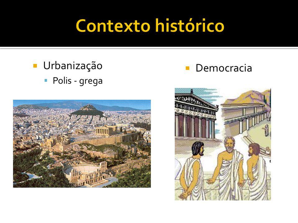  Urbanização  Polis - grega  Democracia