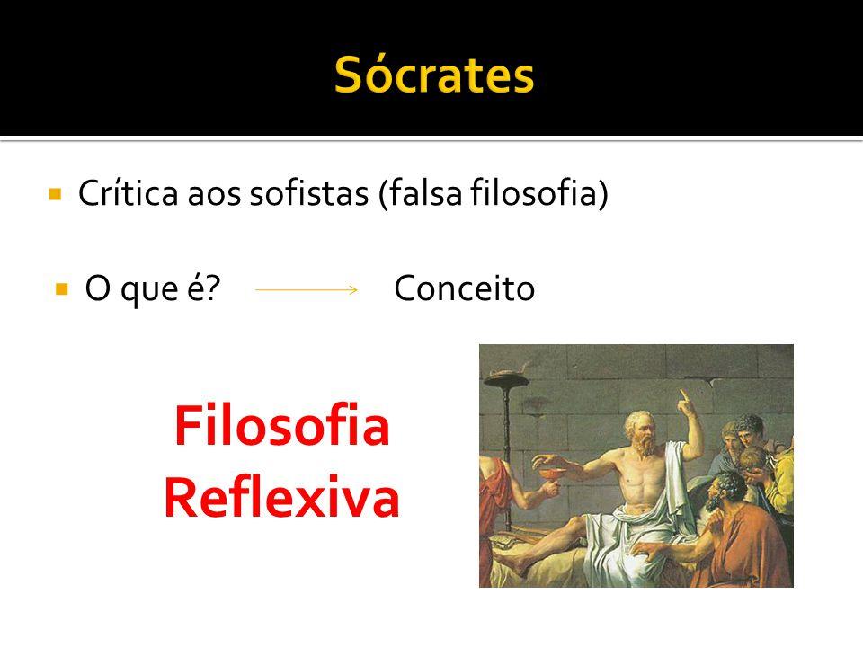  Crítica aos sofistas (falsa filosofia)  O que é?Conceito Filosofia Reflexiva