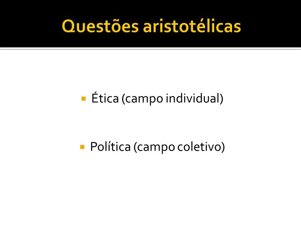  Ética (campo individual)  Política (campo coletivo)