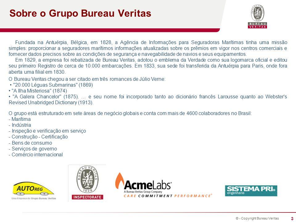 4 © - Copyright Bureau Veritas Projetos Move Forward with Confidence Em 2010 o Bureau Veritas iniciou o projeto de consolidação de processos administrativos com o uso do conceito BPMS.