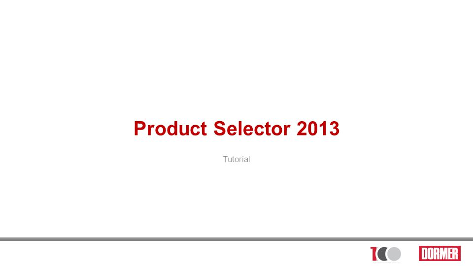 Product Selector 2013 Tutorial