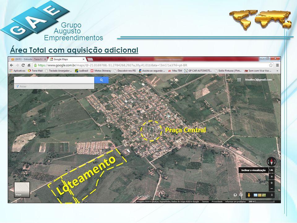 Grupo Augusto Empreendimentos Praça Central Loteamento Área Total com aquisição adicional