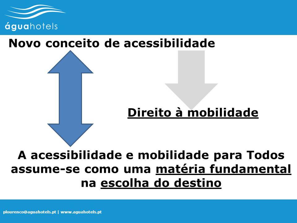 plourenco@aguahotels.pt | www.aguahotels.pt A acessibilidade e mobilidade para Todos assume-se como uma matéria fundamental na escolha do destino Novo