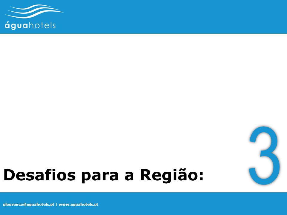 plourenco@aguahotels.pt | www.aguahotels.pt Desafios para a Região: 3