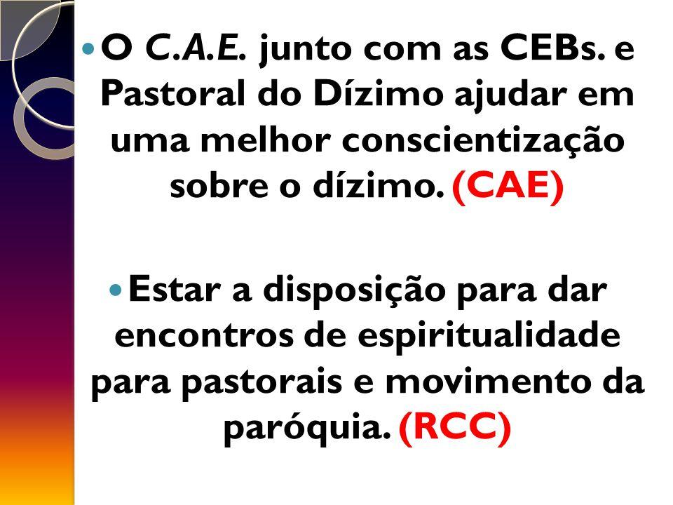 O C.A.E.junto com as CEBs.