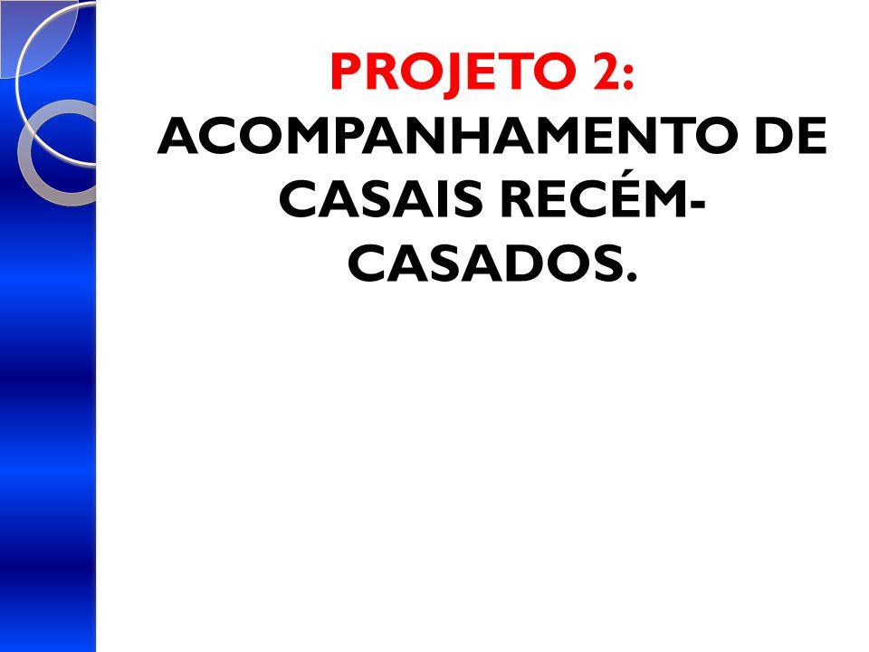 PROJETO 2: ACOMPANHAMENTO DE CASAIS RECÉM- CASADOS.