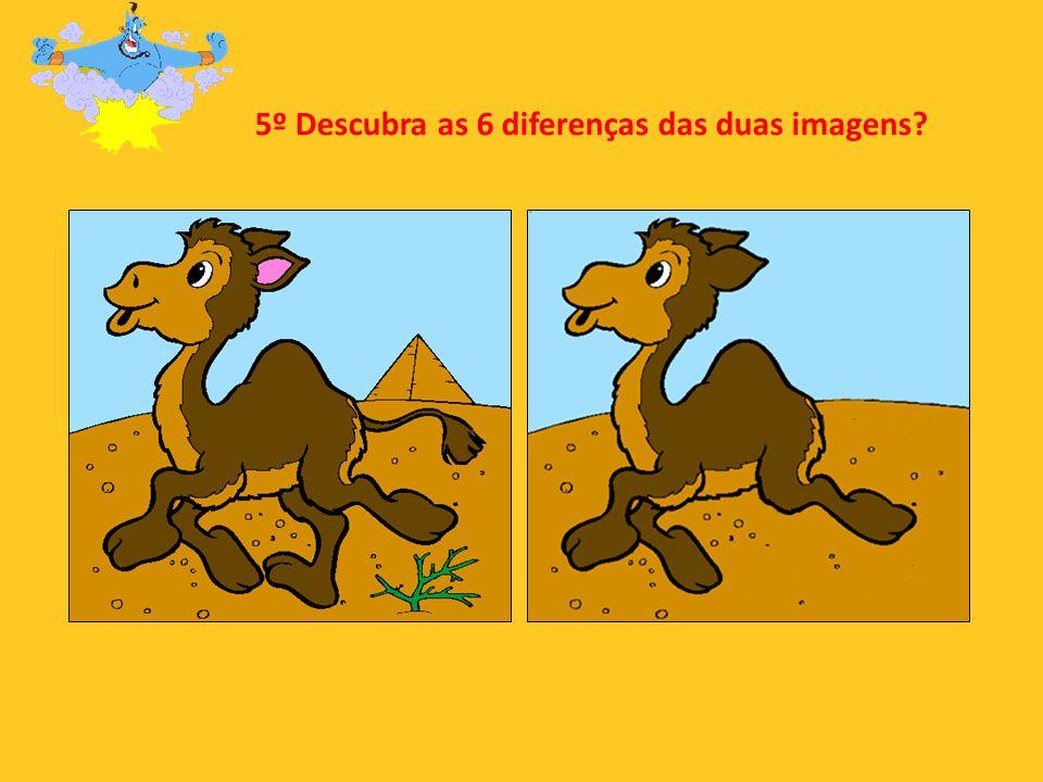 5º Descubra as 6 diferenças das duas imagens?