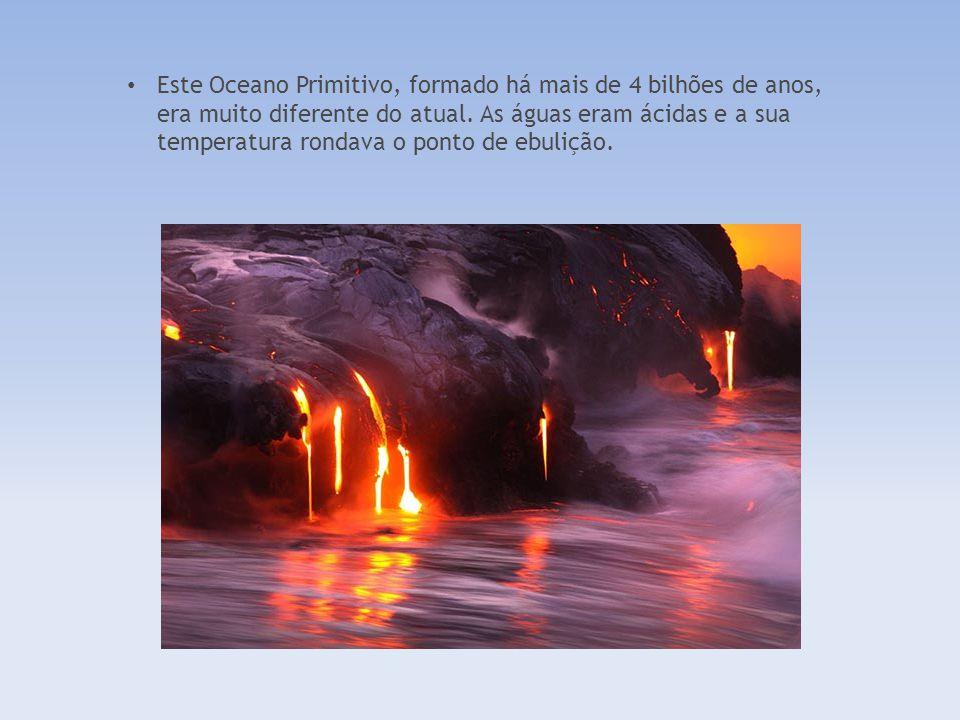 Após a formação da Terra, há 4600 milhões de anos, enormes quantidades de vapor de água foram libertadas dos vulcões e da superfície do planeta em fog