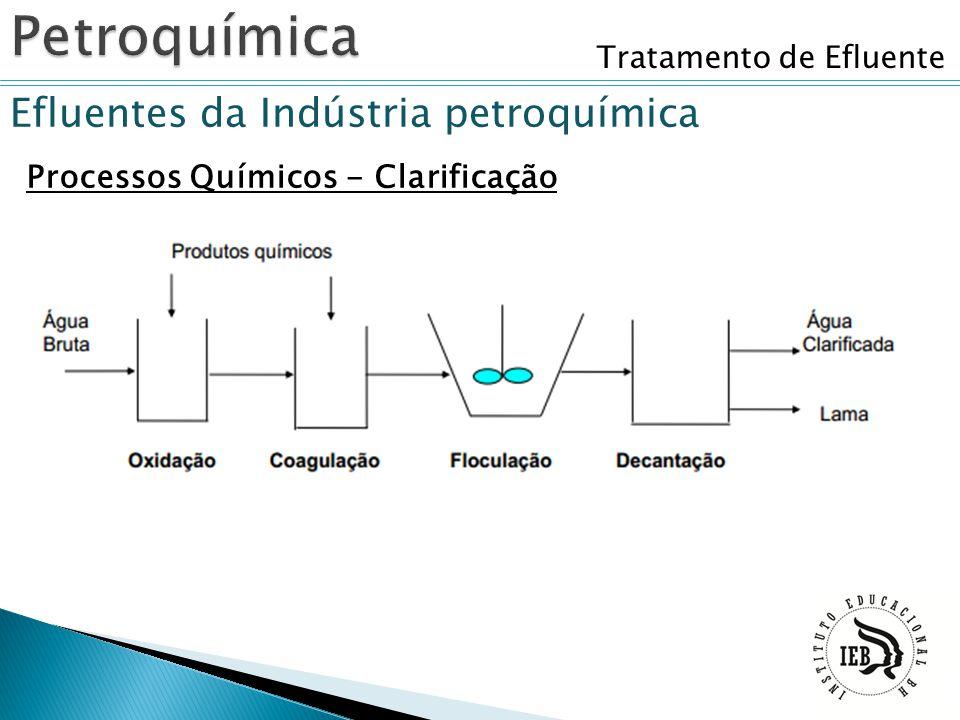Tratamento de Efluente Efluentes da Indústria petroquímica Processos Químicos - Clarificação