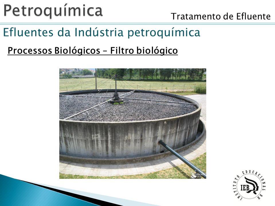 Tratamento de Efluente Efluentes da Indústria petroquímica Processos Biológicos – Filtro biológico