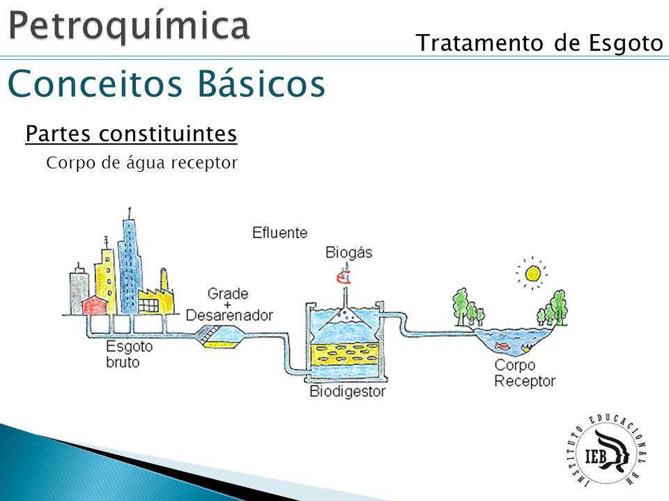 Tratamento de Esgoto Conceitos Básicos Partes constituintes Corpo de água receptor