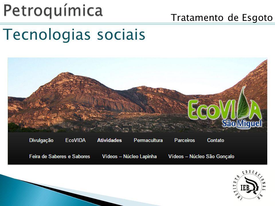 Tratamento de Esgoto Tecnologias sociais