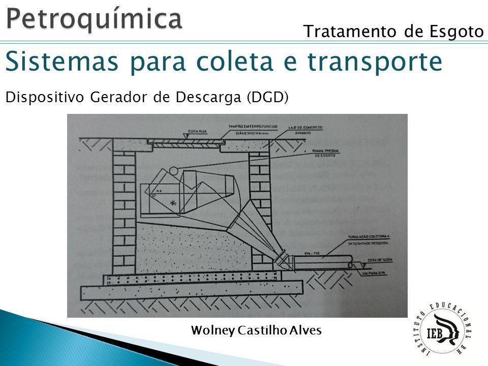 Tratamento de Esgoto Sistemas para coleta e transporte Dispositivo Gerador de Descarga (DGD) Wolney Castilho Alves