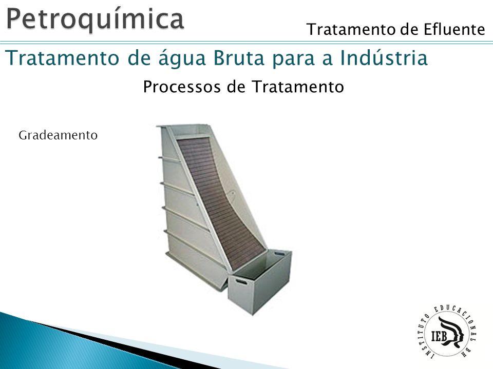 Tratamento de Efluente Tratamento de água Bruta para a Indústria Gradeamento Processos de Tratamento