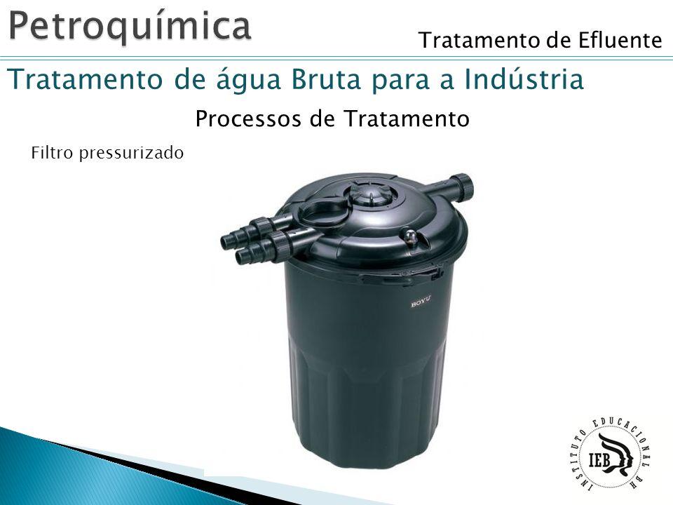 Tratamento de Efluente Tratamento de água Bruta para a Indústria Filtro pressurizado Processos de Tratamento