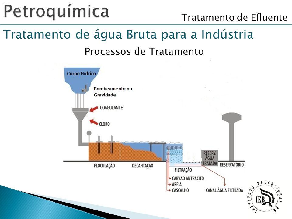 Tratamento de Efluente Tratamento de água Bruta para a Indústria Processos de Tratamento