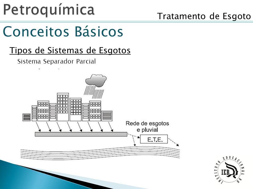 Tratamento de Esgoto Conceitos Básicos Tipos de Sistemas de Esgotos Sistema Separador Parcial