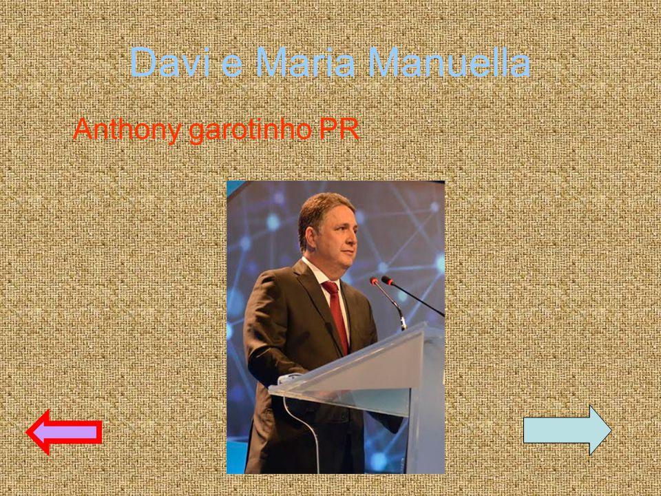 Davi e Maria Manuella Anthony garotinho PR
