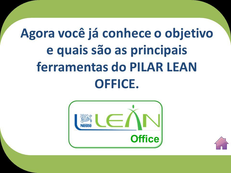 Agora você já conhece o objetivo e quais são as principais ferramentas do PILAR LEAN OFFICE. Office