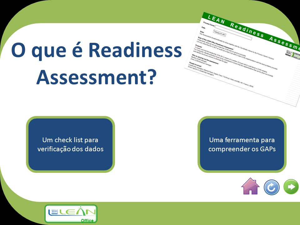 O que é Readiness Assessment.