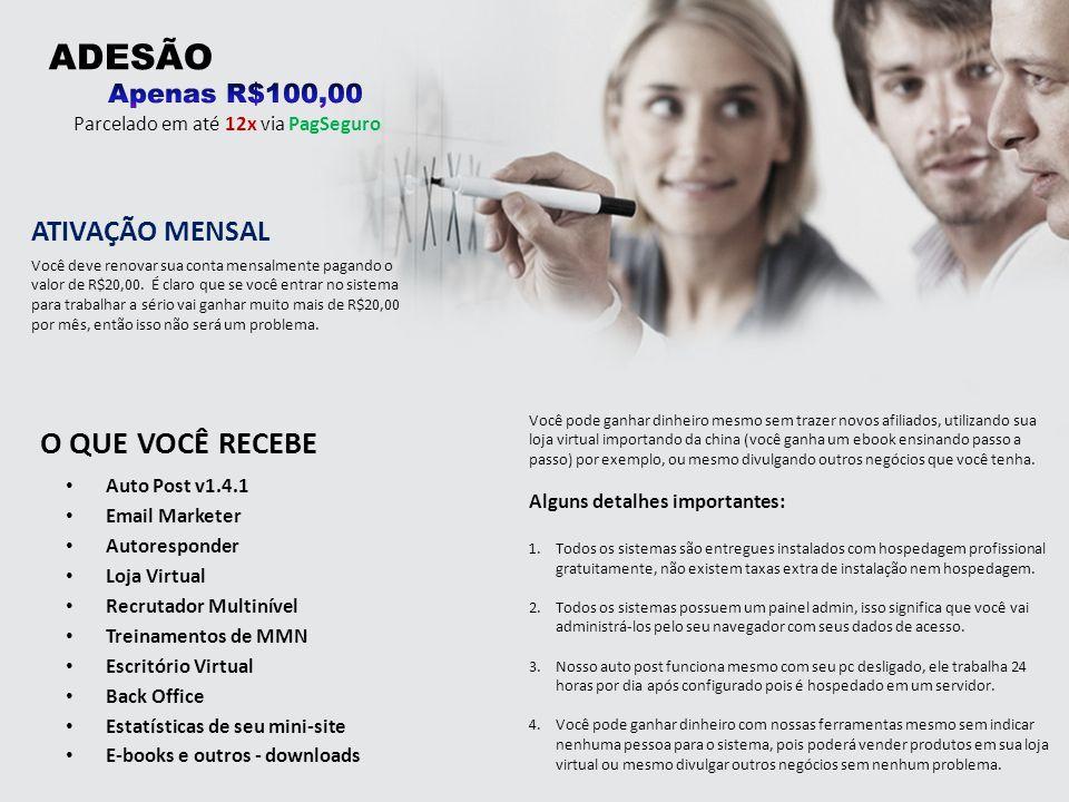 Auto Post v1.4.1 Email Marketer Autoresponder Loja Virtual Recrutador Multinível Treinamentos de MMN Escritório Virtual Back Office Estatísticas de se