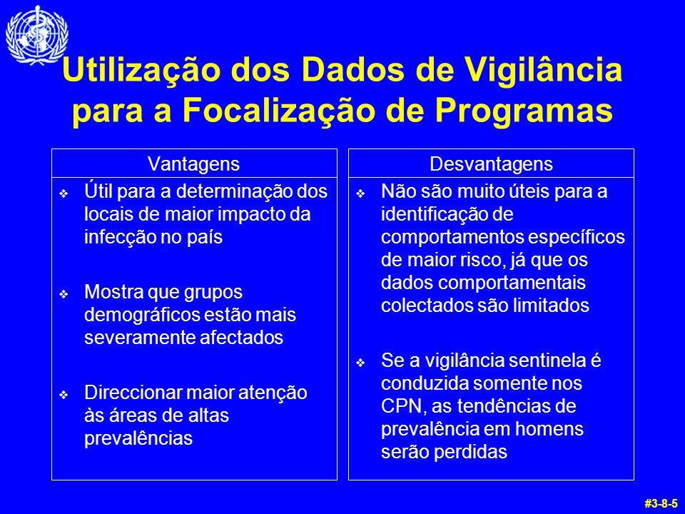 Utilização dos Dados de Vigilância para a Focalização de Programas Vantagens  Útil para a determinação dos locais de maior impacto da infecção no paí
