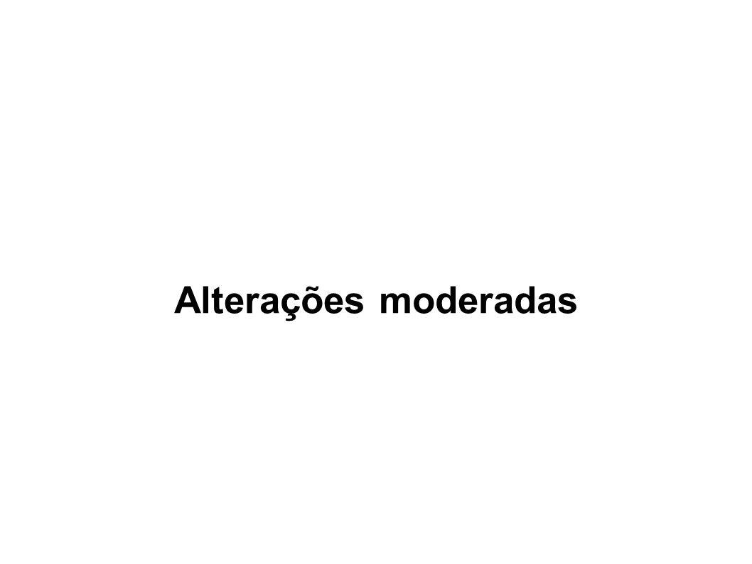 Alterações moderadas
