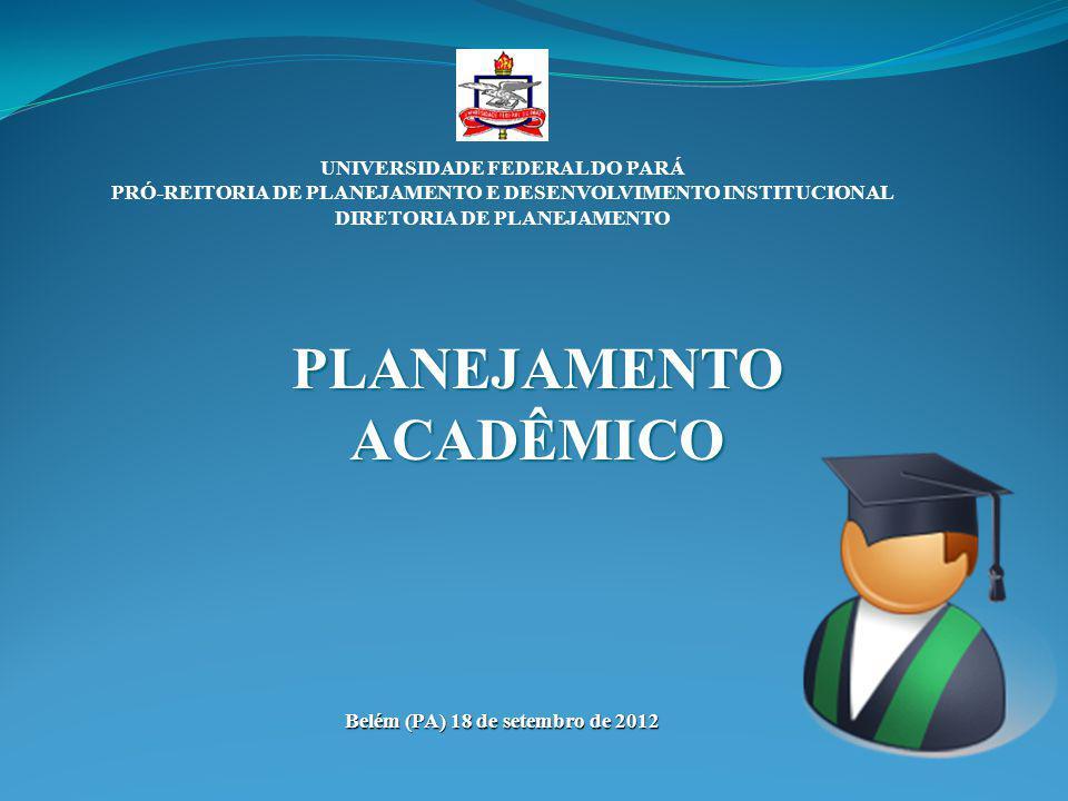 UNIVERSIDADE FEDERAL DO PARÁ PRÓ-REITORIA DE PLANEJAMENTO E DESENVOLVIMENTO INSTITUCIONAL DIRETORIA DE PLANEJAMENTO PLANEJAMENTO ACADÊMICO Belém (PA)